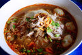 Hot Spicy Noodle With Pork Ball And Small Dried Shrimp Royalty Free Stock Photography - 80904427