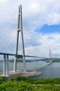 Vladivostok, Russia, Cable-stayed Bridge To Russian Island Royalty Free Stock Images - 80908079