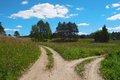 Scenic Landscape, Two Path, Choose Way, Split Road Stock Photography - 80916752