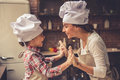 Mom And Daughter Baking Stock Photography - 80919732