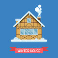 Winter Chalet House Royalty Free Stock Photo - 80930605