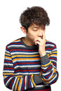Young Thoughtful Man Isolated Over White Background Stock Images - 80937974