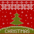 Seamless Knitted Pattern With Christmas Tree Royalty Free Stock Image - 80942006