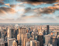 Lights Of Manhattan At Night, Aerial View Of New York City Royalty Free Stock Photo - 80944665