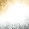 Christmas Background With Golden Glitter And Silver Sparkly Stock Image - 80950531