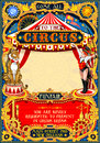 Circus Carnival Invite Vintage 2d Vector Royalty Free Stock Images - 80960219