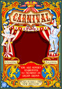 Circus Carnival Theme Vintage 2d Vector Royalty Free Stock Photo - 80960405