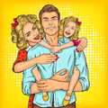 Portrait Of A Happy Family - Father, Mother And Daughter Stock Image - 80968011