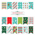 Christmas Festive Bunting Flags Set. Stock Images - 80987194