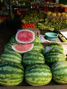 Watermelon And Fruit At Market Stock Image - 814551
