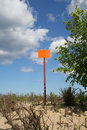 Empty Sign Post Against The Sky Royalty Free Stock Photography - 818687