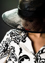 Elegant Woman Is In A Hat Stock Images - 8104254