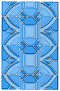 Art Deco Stain Glass Design Stock Photography - 8106862