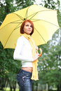 Girl Under Umbrella Royalty Free Stock Images - 8107069