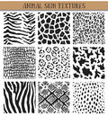 Set Of Nine Hand Drawn Ink Abstract Textures. Stock Photography - 81001432