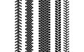 Black And White Tire Tread Protector Track Seamless Pattern, Vector Set Stock Photo - 81028080