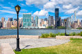 View Of The Midtown Manhattan Skyline Across The River From Quee Stock Photo - 81030980