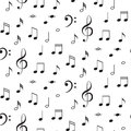 Musical Notes Seamless Vector Pattern. Royalty Free Stock Image - 81042456