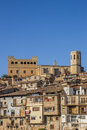 Historical Castle And Church On Top Of The Hill In Valderrobres Royalty Free Stock Photo - 81053425
