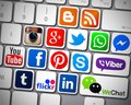 Social Media Icons Apps Stock Photography - 81057032