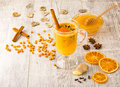 Sea Buckthorn Tea With Honey Stock Photo - 81057580