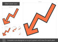 Chart Down Line Icon. Stock Photography - 81066872
