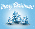 Blue Christmas Trees. Stock Photography - 81072562