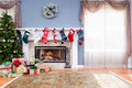 Decorated Living Room At Home For Christmas Royalty Free Stock Photos - 81097088