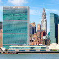 The United Nations Headquarters Building In Midtown Manhattan Stock Photos - 81101153