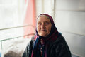 The Old Grandmother At Home In Russian Village Stock Photography - 81101322