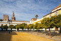 Seville Cathedral Giralda Tower From Alcazar Of Sevilla Andalusi Stock Image - 81102301