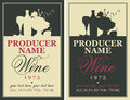 Wine Label With Still Life Royalty Free Stock Images - 81109599