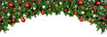 Wide Bow Shaped Christmas Border Royalty Free Stock Photo - 81111305