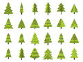 Christmas Trees In A Flat Style. Decorated Christmas Tree. Fir Trees Isolated Stock Image - 81113291