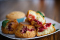 Sweet Muffins Stuffed With Cherries Royalty Free Stock Photos - 81114858
