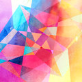Abstract Watercolor Geometric Background Stock Images - 81116814
