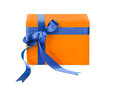 Orange Gift Box Stock Photography - 81126782