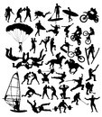 Extreme Sport Activity Silhouettes Stock Images - 81126894