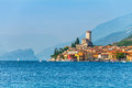 Ancient Tower In Malcesine Old Town Royalty Free Stock Image - 81141276