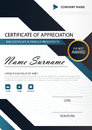 Blue Black Elegance Vertical Certificate With Vector Illustration ,white Frame Certificate Template With Clean And Modern Pattern Stock Photography - 81152492