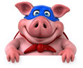 Fun Pig - 3D Illustration Royalty Free Stock Images - 81154869