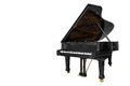 Classic Musical Instrument Black Piano Isolated On White Background Royalty Free Stock Photo - 81155195