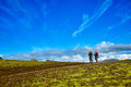 Hikers In The Mountains, Iceland Stock Image - 81163541