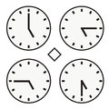 Time Clock Round Watch Hour Five Quoter Half Icon Simple Vector Stock Photo - 81185190