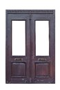 Old Wooden Double Door Isolated Royalty Free Stock Photos - 81199278