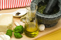 Ingredients For Spaghetti Pesto Stock Images - 8127314