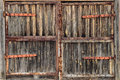 Old Wooden Door With Rusty Hinges Stock Photography - 81201442