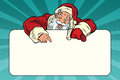 Santa Claus Character Shows On The Banner Copy Space Stock Photography - 81208912