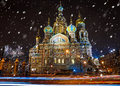 Church Of The Saviour On Spilled Blood In St. Petersburg In Wint Stock Photos - 81224733