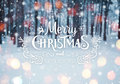 Frosty Winter Landscape In Snowy Forest. Christmas Background With Fir Trees And Blurred Background Of Winter With Text Royalty Free Stock Photo - 81225765